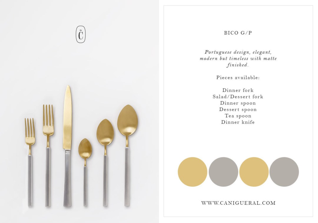 flatware silver/gold