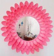 plastik kaşıklardan dekoratif ayna yapımı1