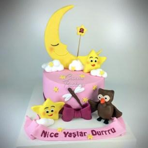 Twinkle Little Star Cake Doğumgünü Kutlama