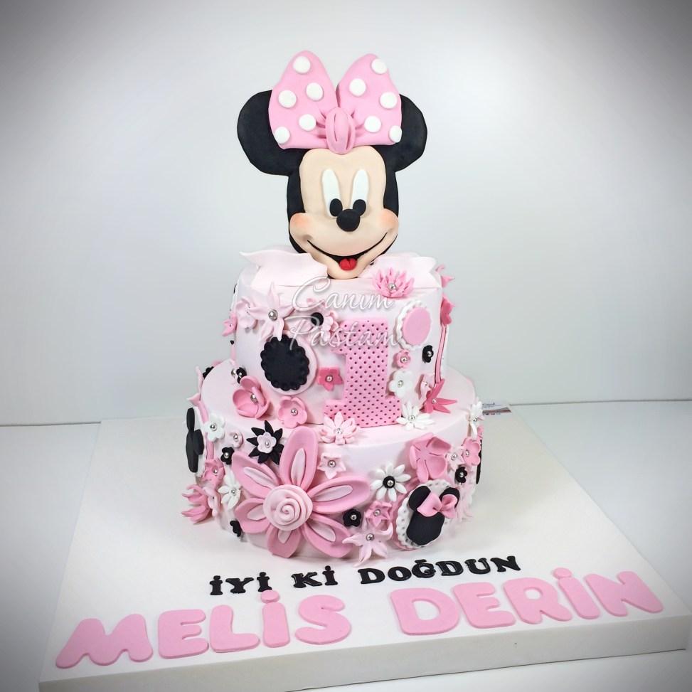 Mini Pasta Minnie Cake Minnie Mouse Cake 1 Yaş Pastası