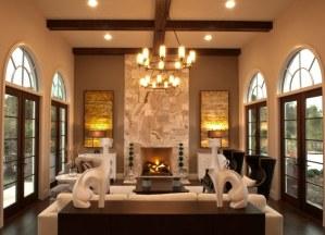 Palazzo Lago Custom Home - Living Room
