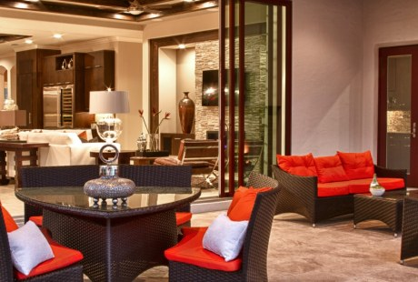 Palazzo Lago Custom Home - Porch