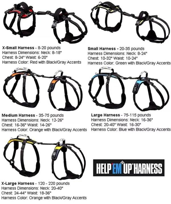 HEU Harness Size Chart