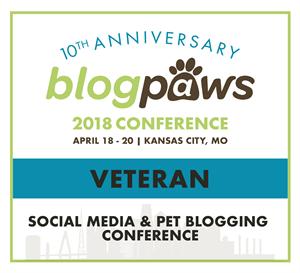 BlogPaws Veteran badge