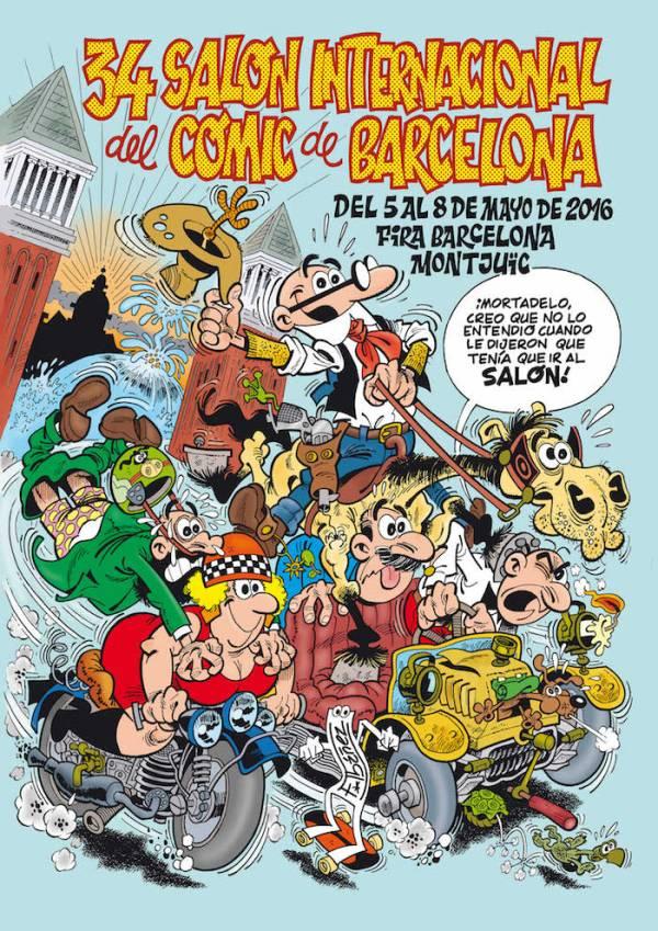 El cartel del Saló del Comic de este año, dibujado por Ibáñez