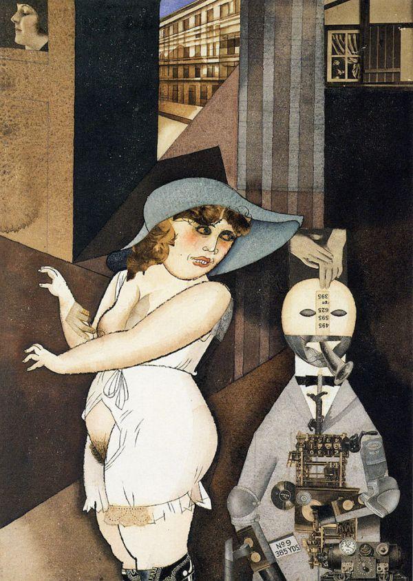 """Daum"" marries her pedantic automaton ""George"" in May 1920, John Heartfield is very glad of it - George Grosz"