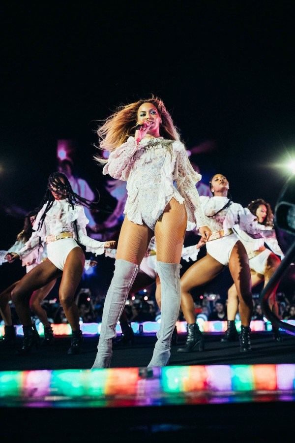 BARCELONA, SPAIN - AUGUST 3: Beyonce performs during the Formation World Tour at the Estadio Olimpico on Wednesday, August 3, 2016 in Barcelona, Spain. (Photo by 13th Witness/Parkwood Entertainment)