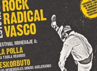 "Cartel del festival tributo ""Esto no es Radikal Vasco"" a Kortatu, La Polla Records y Eskorbuto."