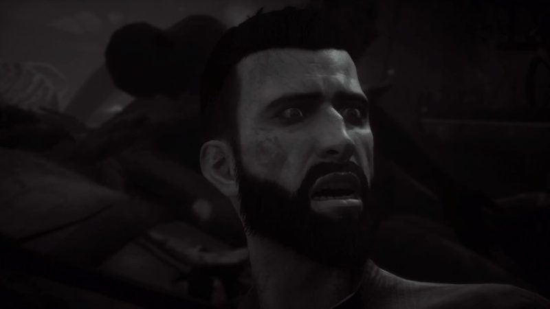 Black and white image of Jonathan. Image illustrating the issue of the game lacking full captions.