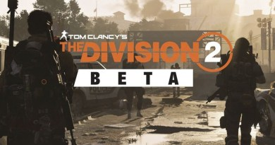 The Division 2 Beta title screen