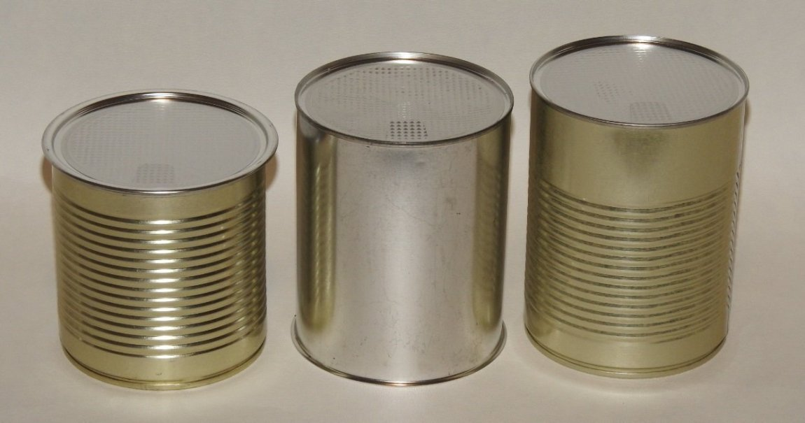 99mm Diameter wide round tin cans with metal peel off lids