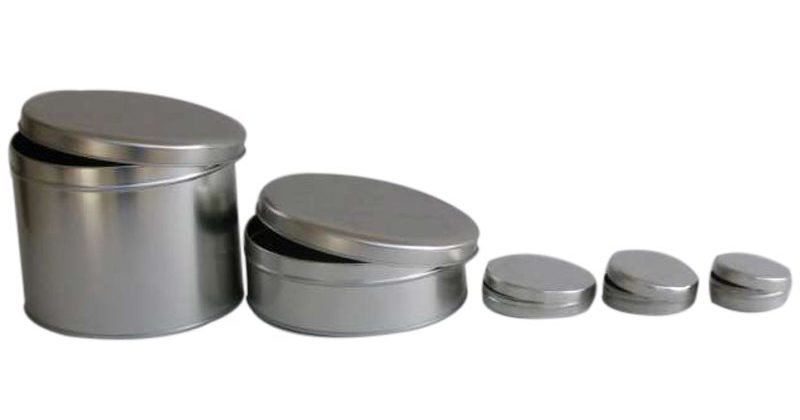 Small Round Tins lined up
