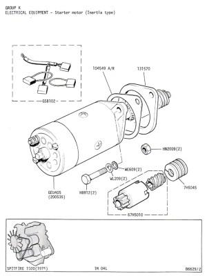 Starter Motor (Inertia Type) @ Canley Classics