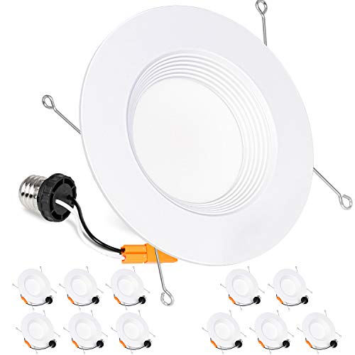 15W 100W Replacement 1250LM Retrofit Recessed Lighting CRI 90+,5000K Daylight MustWin 12 Pack 5//6 Inch Dimmable LED Downlight Damp Rated Energy Star /& ETL Listed /…