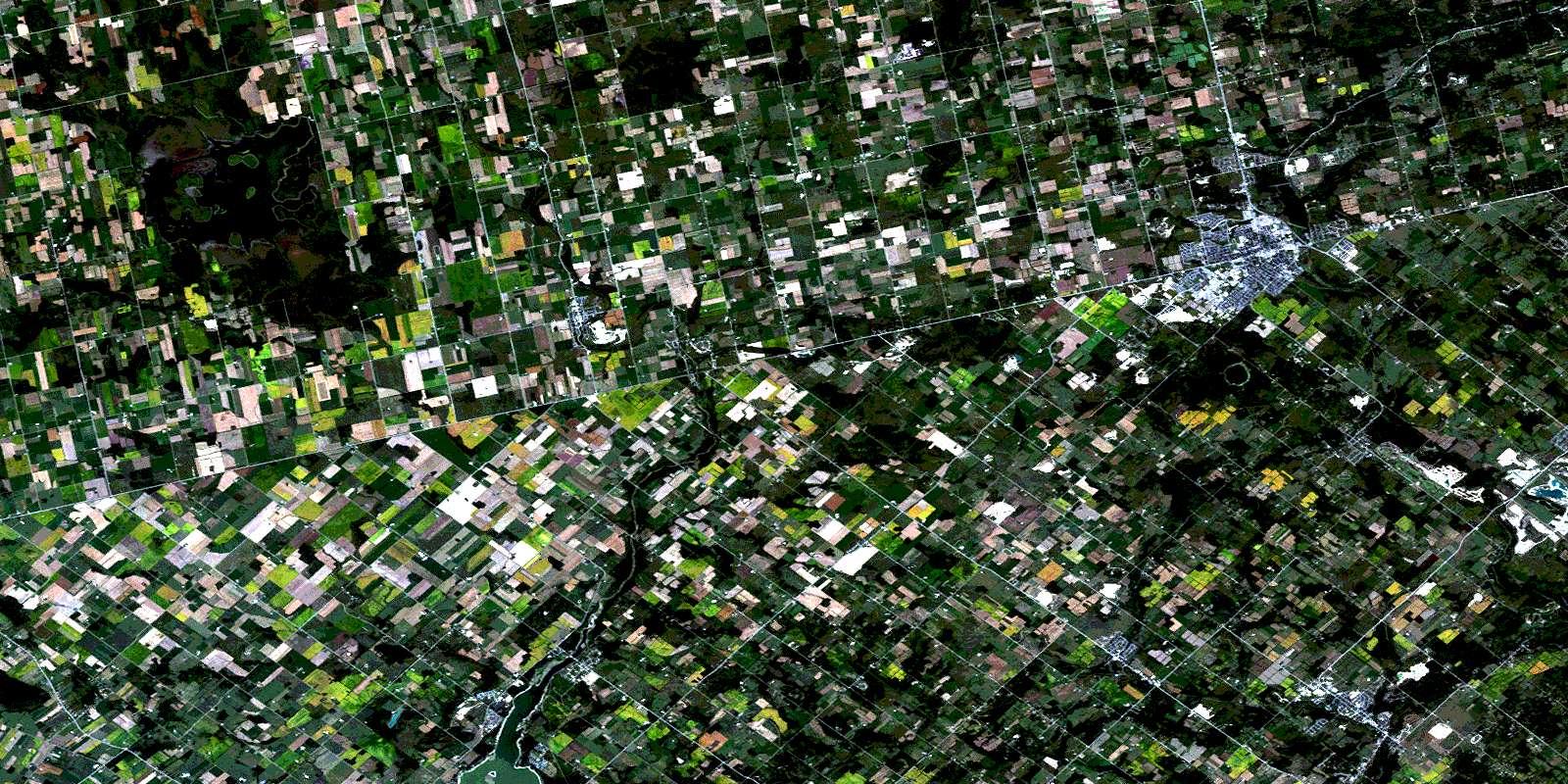 Orangeville ON Free Satellite Image Map 040P16 At 150000