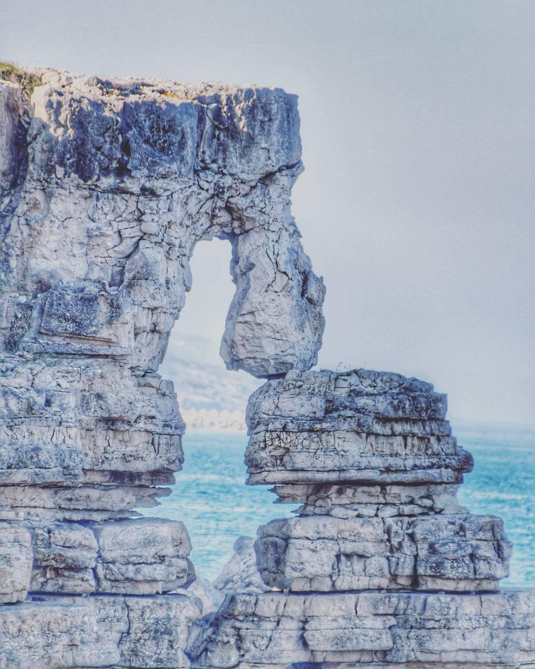 Bağırganlıda kaya ilginç kaya oluşumu.