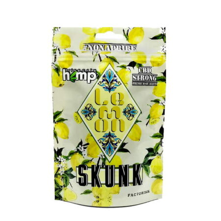 Busta di Lemon Skunk cannabis light by Trinacria hemp