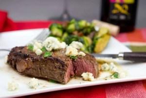 Marijuana Steak Recipes 0 Filet Mignon with marijuana Butter, Chives and Blue Cheese