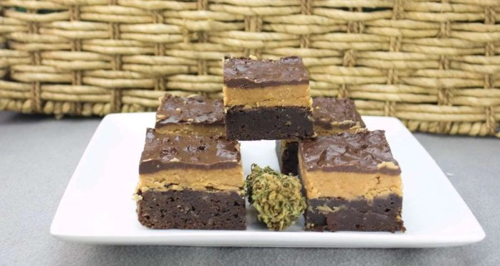 Marijuana Brownies - Peanut Butter Fudge Brownies
