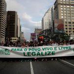 Brasil debate legalización de la marihuana: brasileños marcharon en Sao Paulo