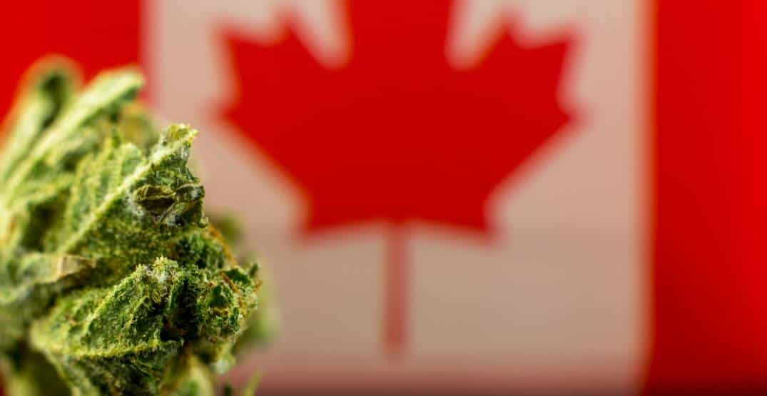 Canada flag and weed