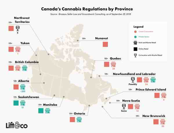 Provinces allowed to grow 4 plants in Canada