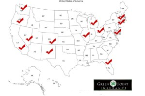 Map of states we are licensed