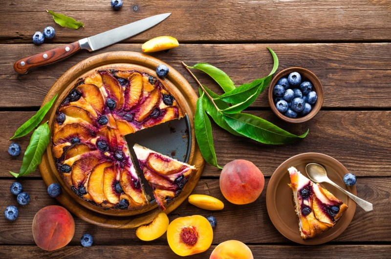 Cannabis Peach Upside-Down Cake