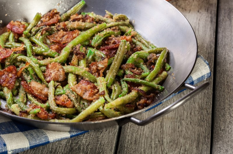 Cannabis Infused Green Beans and Bacon