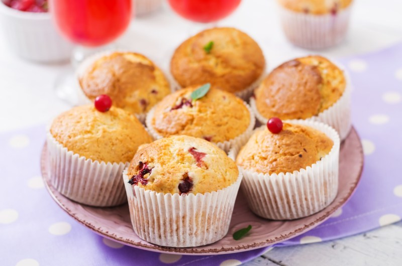 Cannabis Infused Cranberry Orange Muffins