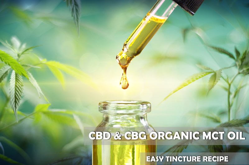 Easy CBD and CBG Infused MCT Tincture