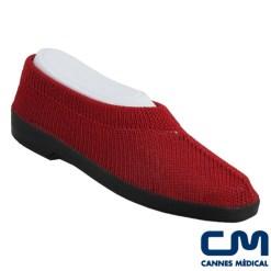 chaussure mailla ballerine rouge