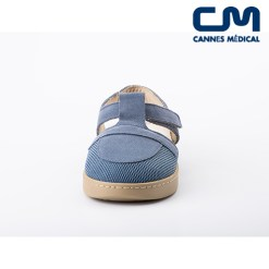 sandales bleu jean femme face