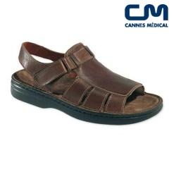 sandales texas homme marron