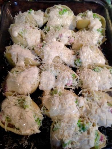 ham, cheese, broccoli shells with sauce 2