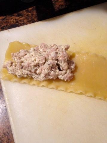lasagna noodle and filling