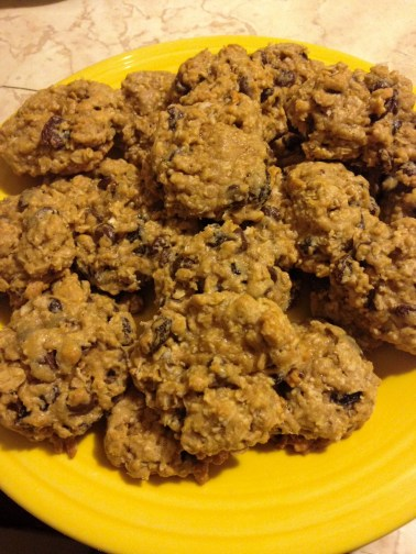 oatmeal raisin chocolate chip cookies plateful