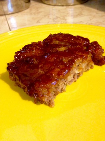 BBQ meatloaf slice 2