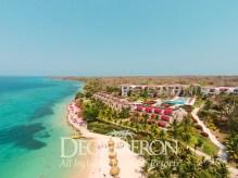 Vista aérea de la playa del Hotel Royal Decameron Barú