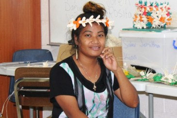 Alumni Sentiana Langinbelik was a WAM trainee in 2013 and is now attending the Juran Ae weaving program.