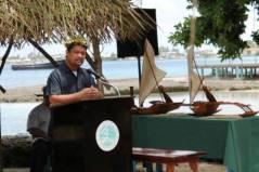 Chief Secretary Casten Nemra made the keynote address at the WAM graduation held Tuesday, September October 2.