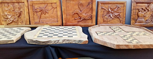 his is just a few of the beautiful handmade wood products the GEF trainees have made. Photo: Suemina Bohanny