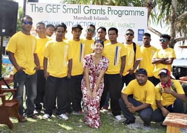 Graduates with Yoshiko Yamaguchi from GEF. Photo: Tamie Bowman