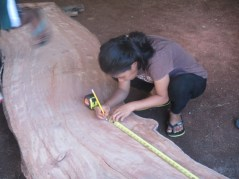 Trainee Angie Abal learning the tools of the trade. Photo: Isocker Anwell