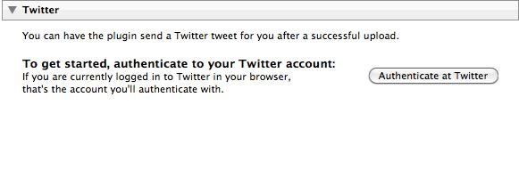 Twitter posting