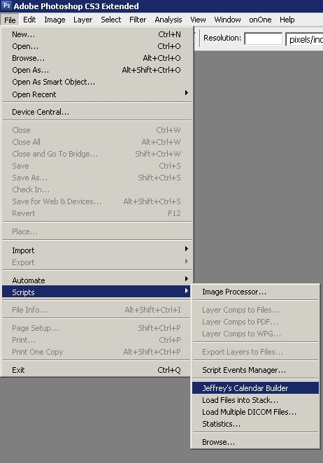 Step 05 - Locate the Script from Photoshop Menu