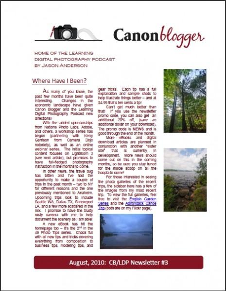 Canon Blogger Newsletter
