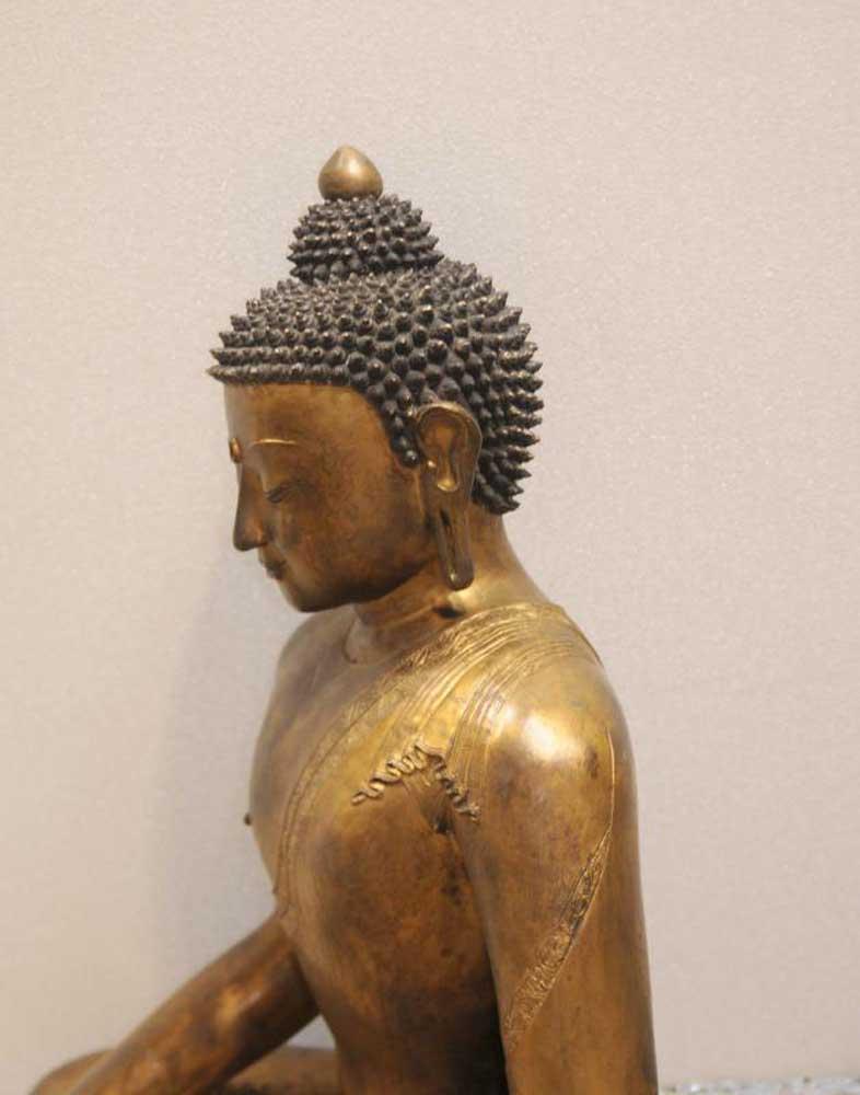 Antique Burmese Buddha Statue Bronze Buddhist