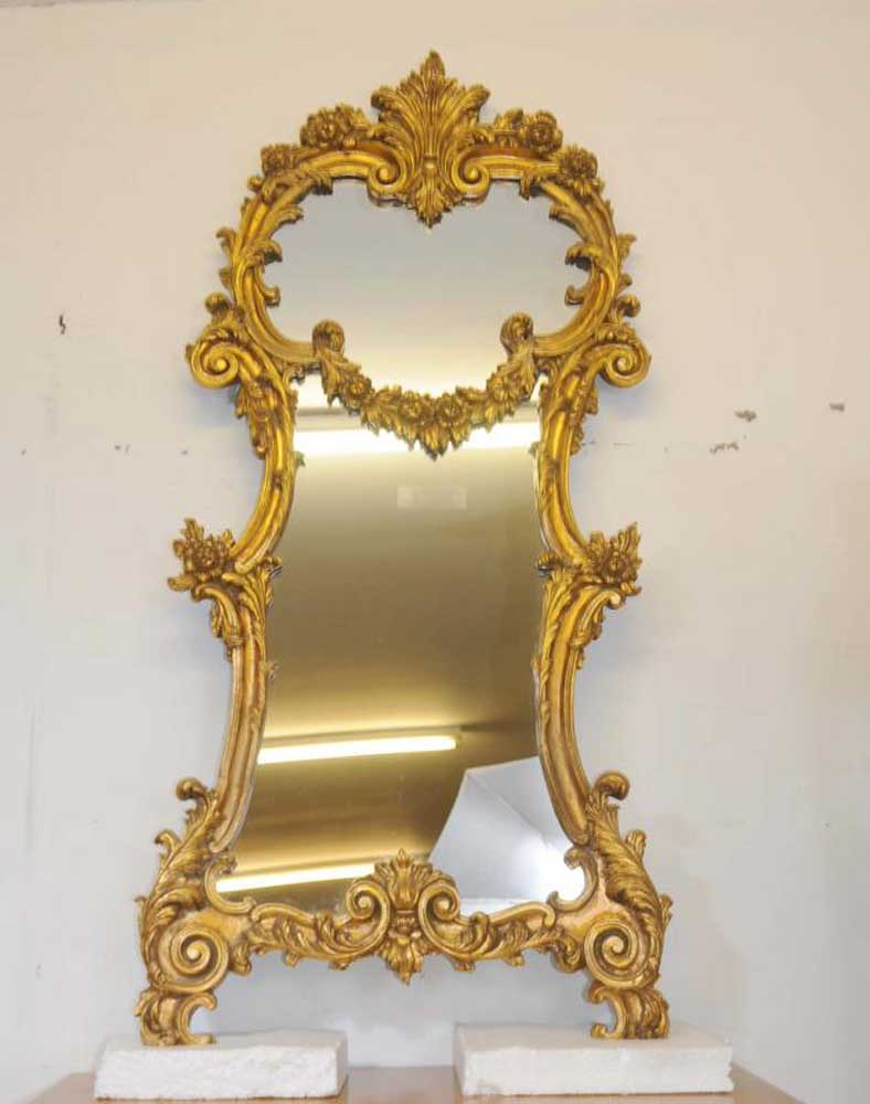 gold rococo mirror blogger