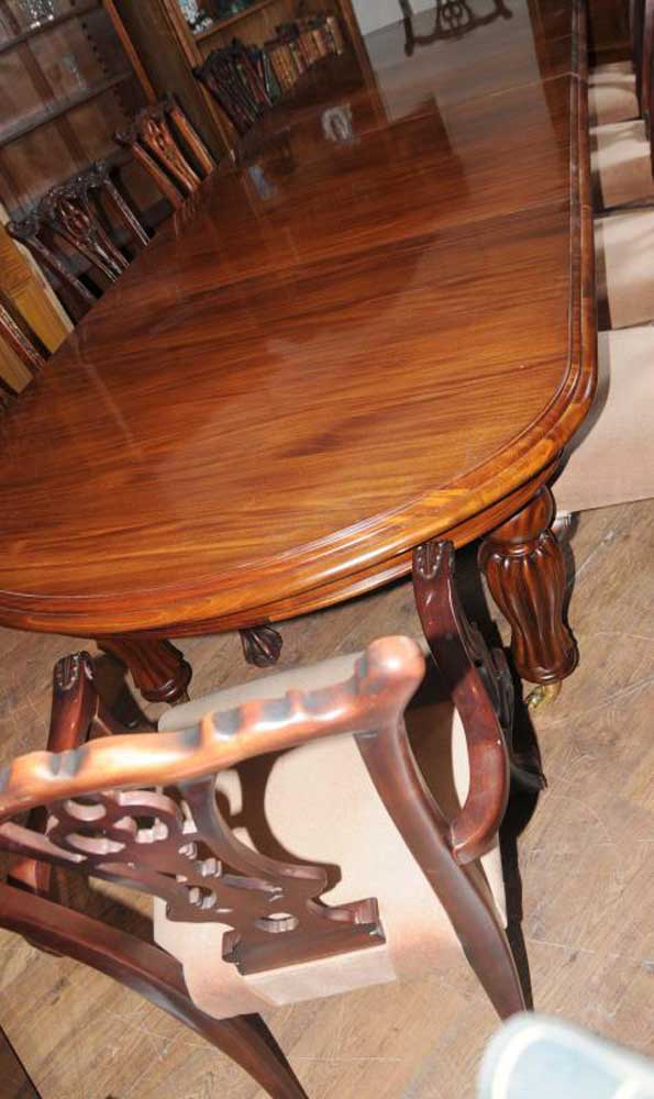 Victorian Dining Table Set Chippendale Chairs Set Suite Mahogany